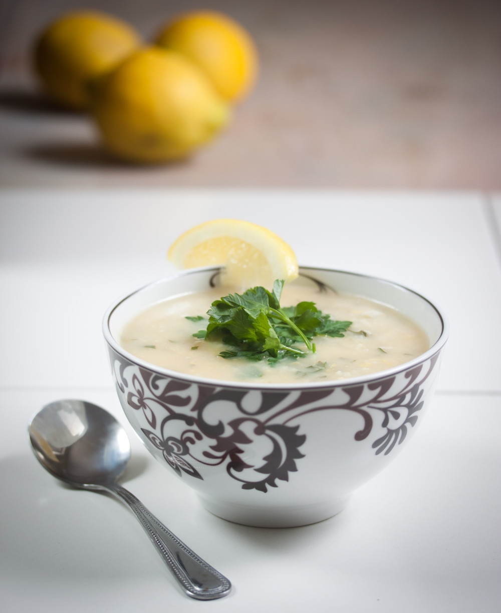 Lemon Rice Soup from Great Gluten-Free Vegan Eats from Around the World--Allyson Kramer